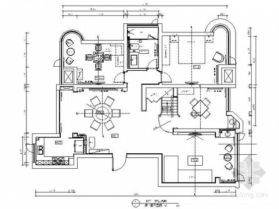 [原创]现代时尚华丽的跃层式家装设计施工图