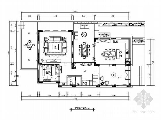 [广东]欧式浪漫的海景三层别墅装修施工图