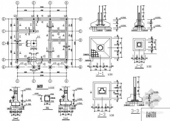 某2层砖混新农村小别墅建筑结构设计图