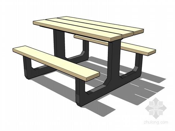 户外休闲椅SketchUp模型下载