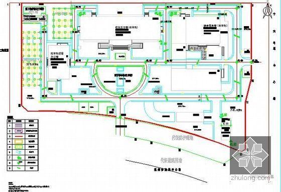 [北京]教育实习基地项目建设工程施工招标文件及投标文件(附全套图纸报价施组)-道路竖向布置图