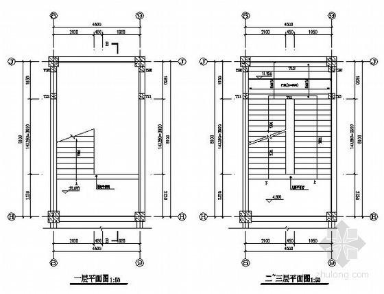 框架结构食堂风雨操场楼梯节点构造详图
