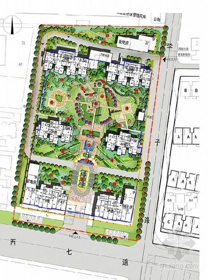 [淮安]花园式住宅景观概念设计方案