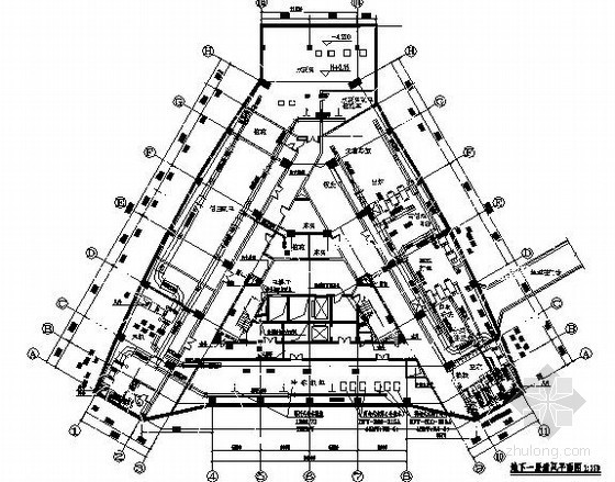 重庆某医疗中心中央空调工程施工设计图纸