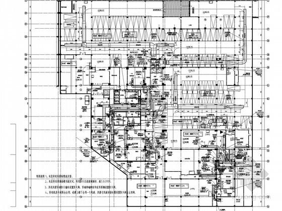[江西]酒店地下室空调通风及防排烟系统设计施工图(含制冷机房、锅炉房设计)