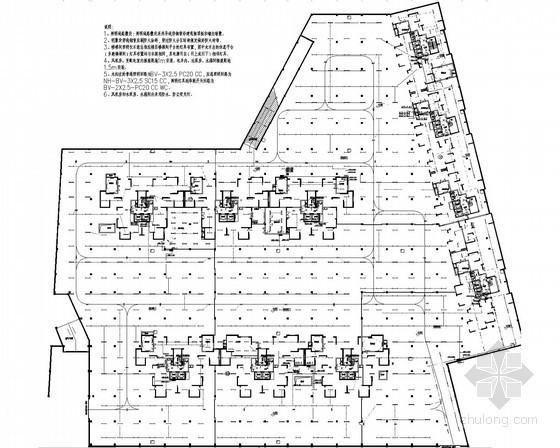 [四川]高层住宅小区全套强弱电施工图120张(车库 配套建筑)