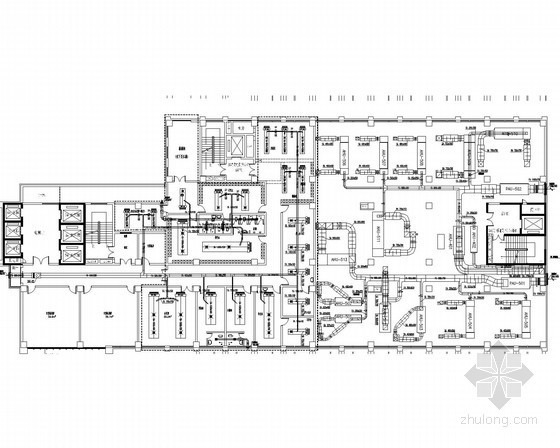 [湖南]医院科研楼科室洁净空调系统施工图(含医用气体)