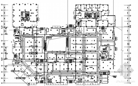 某中心广场通风空调平面图