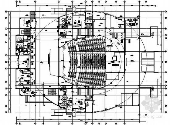 [国外]影剧院空调设计施工图(座椅送风)