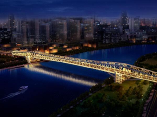 试桩长86.65米!世界跨径最大连续钢桁梁桥桩基完工