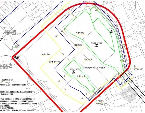 [湖南]桩锚深基坑支护施工图