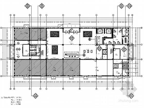 [江苏]环保产业园现代风格服务中心室内装修施工图