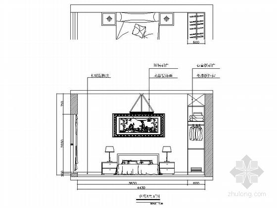[常德]花园洋房现代简约两居室设计装修图(含效果)客卧立面图