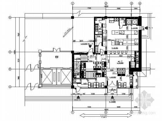 [哈尔滨]美国跨国连锁现代高档餐厅装修施工图(含方案)