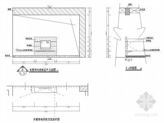 [江苏]时尚四居室家装装修施工节点图