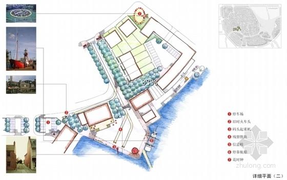 [上海]滨江英式居住区景观方案设计-详细平面图