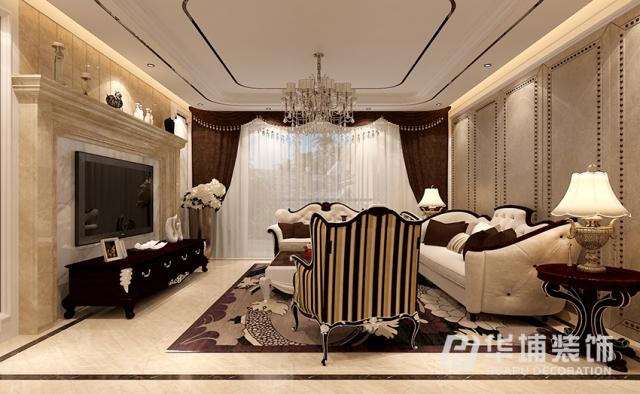 小区名称:绿地海珀兰轩        建筑面积:158        装修风格:美式图片