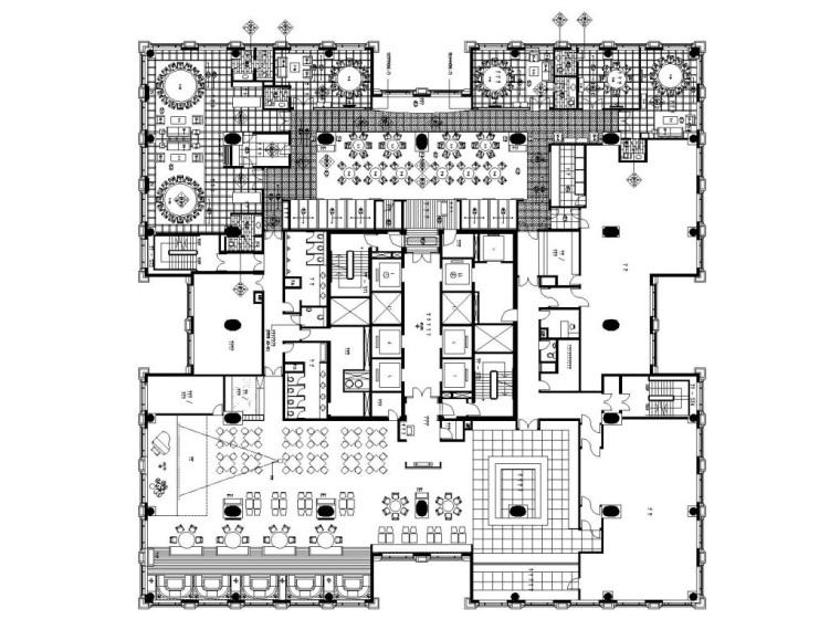 现代简约风格大型中餐厅内部装修全套施工图