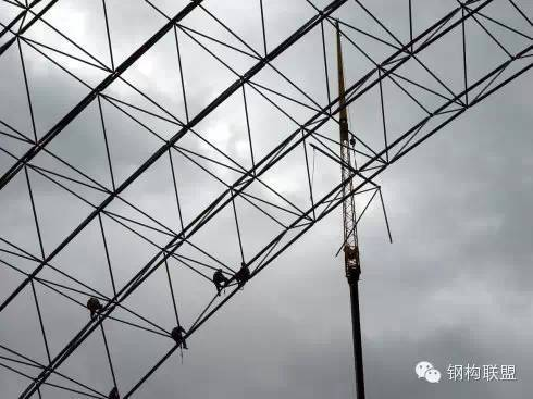 网架结构高空散装如何做?