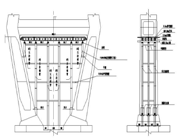 桥锁塔下横梁施工方案