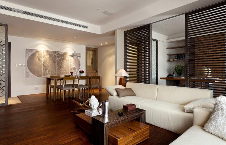 现代台式简约风格二居室实景图