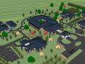 旅游度假村度假酒店建筑设计模型