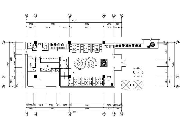 南宁万象城模型资料下载-[广西]南宁外婆家万象城店施工图设计(附实景照片+效果图)