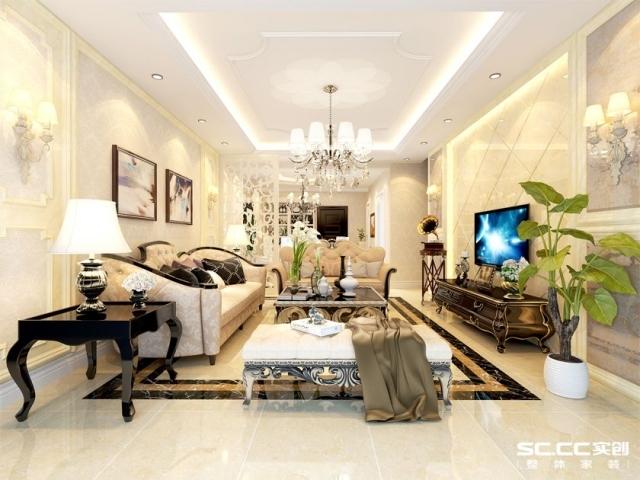 瀚宇天悦-116平米-三室两厅-欧式风格装修设计图
