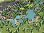 休闲度假公园广场su模型
