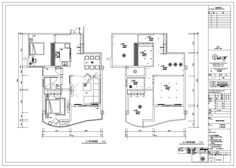 郑州燕庄曼哈顿销售中心样板间四套室内设计施工图_6