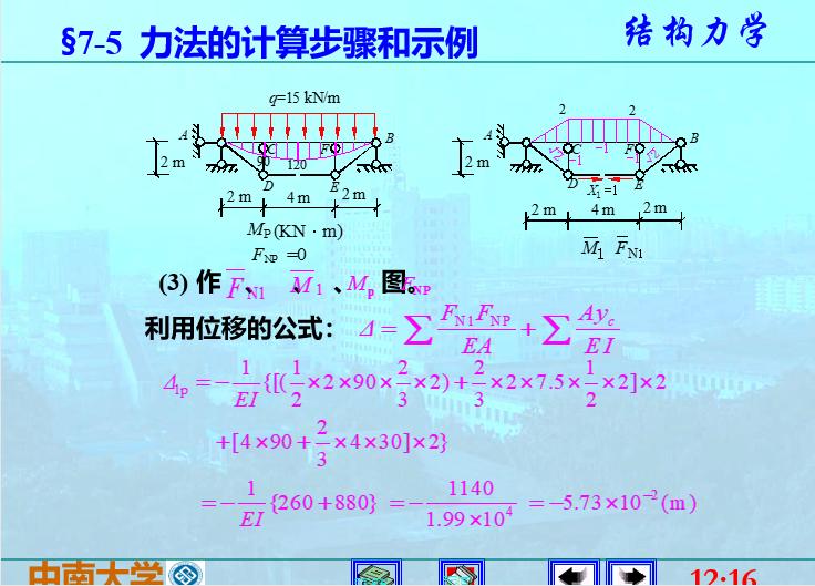 结构力学李廉锟版-力法_8