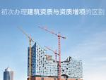 建筑企业初次办理建筑资质和办理建筑资质增项是否一样