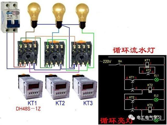 【电工必备】开关照明电机断路器接线图大全非常值得收藏!_35