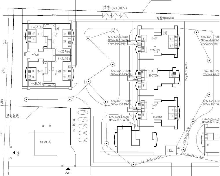 11+1电气图纸导线(包括防雷接地,图纸v电气及敷当初与高层不符图片
