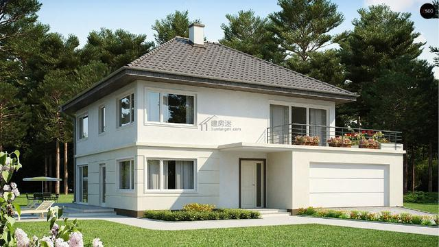 北京农村两层H钢结构加砌块自建房钢结构别墅