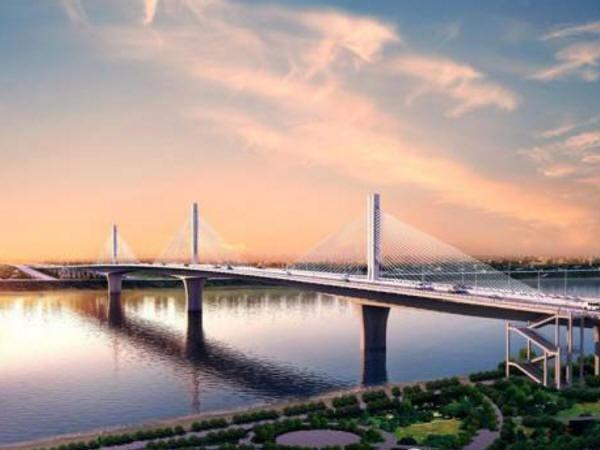 """中国最宽单箱梁体矮塔斜拉桥""""东洲湘江大桥""""开建"""
