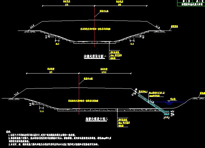 双向四车道市政道路设计图198张(含交通照明绿化、给排水)_8