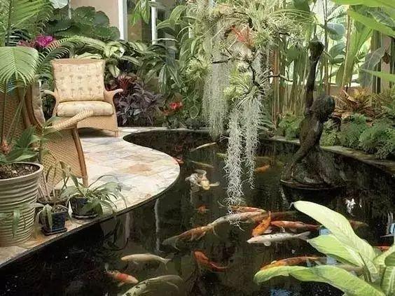 庭院池塘的风水布局,让你好运连连