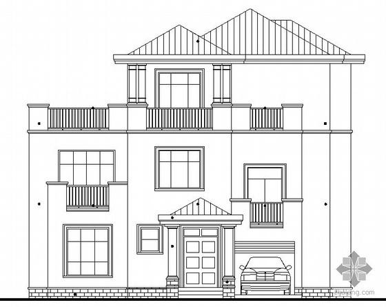 [东莞市]某豪园三期别墅区(A3型别墅)建筑结构水电施工图(含节能