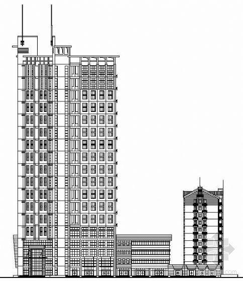 某豪华现在商住楼建筑设计方案建施图加效果图