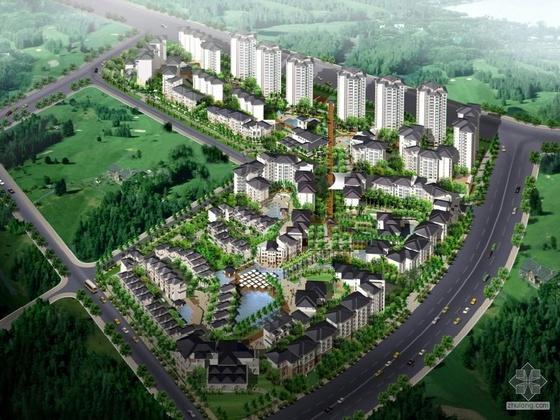 [中旅]某花园住宅小区组团建筑方案设计及CAD扩初