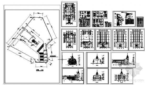 某四层基督教会建筑施工图-4