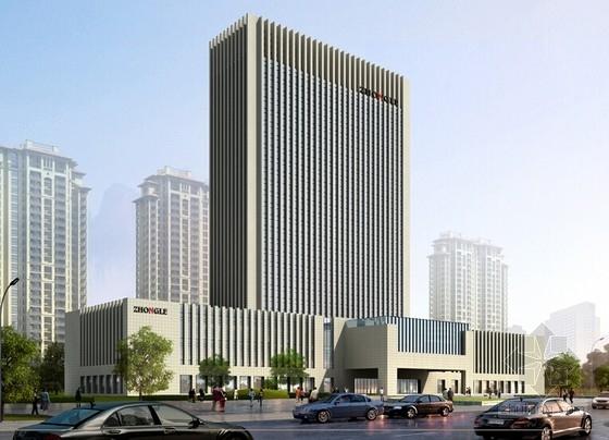 [河南]26层现代风格高档酒店公寓设计方案文本-26层现代风格高档酒店公寓效果图
