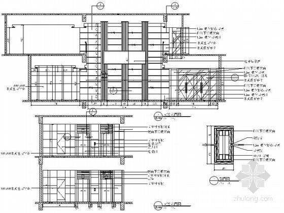 [北京]现代化产业园区高档研发大楼装修施工图大堂立面图