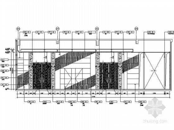 [苏州]环抱独墅湖水天一色苏式恬静会议酒店设计施工图(含方案及实景)包房走道立面图