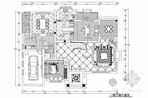 欧式别墅室内设计施工图(含效果图)