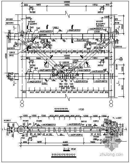某加强层钢结构桁架大样节点构造详图(一)