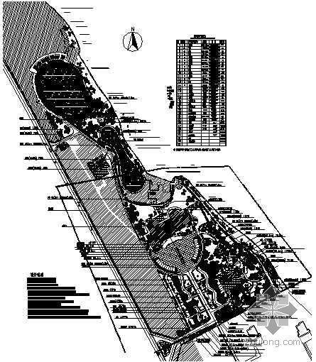 某环境园林植物配置设计平面图