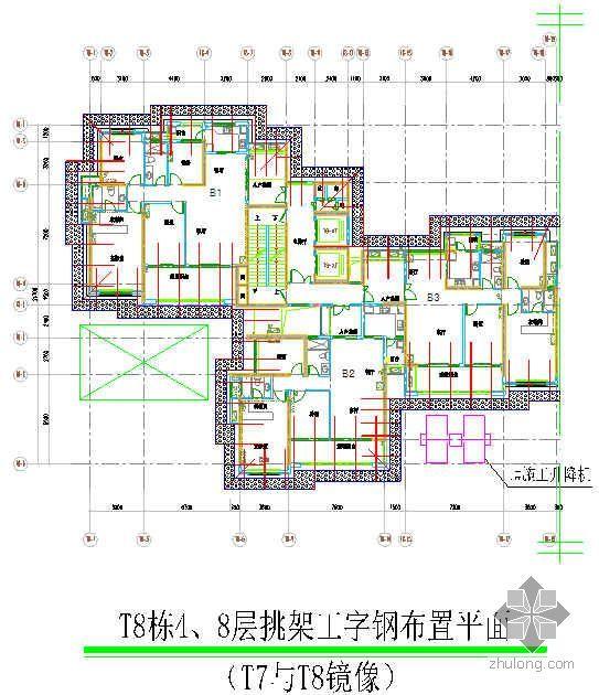 广东某高层住宅悬挑外架施工方案(14工字钢)