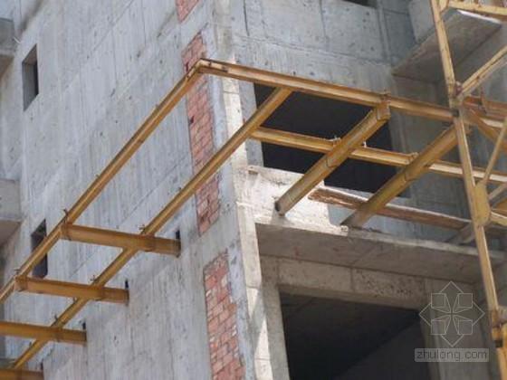[四川]高层住宅楼双排悬挑式脚手架施工方案(附节点图)